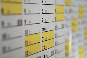 Detailed schedule online !